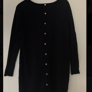 cynthia Rowley wool sweater with button down back